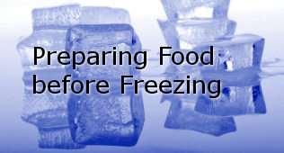 preparing food freezer